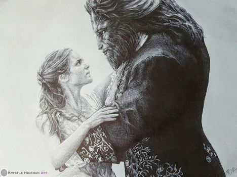 Beauty and the Beast Ballpoint Pen by TheKrystleGallery
