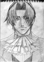 Miles Edgeworth sketch by saeko-doyle