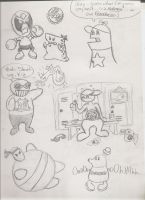 Homestar Runner Sketches 1 by shadenightfox