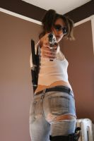 Shelly Zombie Hunter Stock by KINGZOMBIE-STOCK
