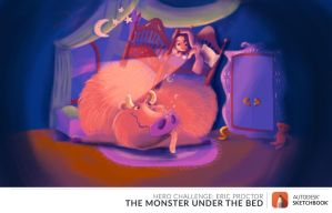 The Monster Under The Bed - May Hero Challenge by dasEvachen