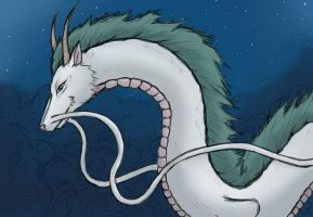 Spirited Away Haku by Catchmewithyourlips