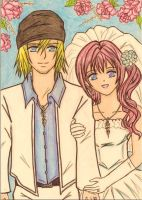 Snow and Serah's wedding by dagga19 by dagga19