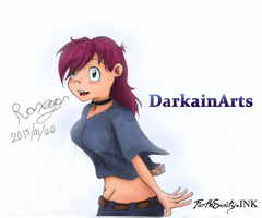 Roxy - DarkainArts  [ForthSanity.Ink Restyle] by ForthSanity