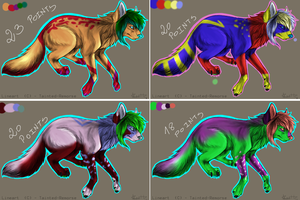 Scene dog pointables batch -CLOSED- by RanAdopts