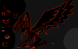 Creepypasta - Me as a fallen angel - Night terrors by JackFrostOverland