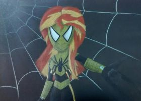 Spider Sunset by ArtKing3000
