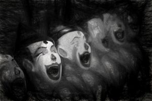 Scary Clowns by CouchyCreature