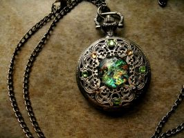 Color shifting Betwixt Antique Pocket Watch by LadyPirotessa