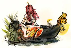 Princess Bubblegum as The Lady of Shalott by Tsubasa-No-Kami