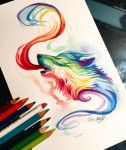 22- Small Rainbow Wolf by Lucky978