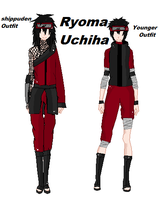 Ryoma Uchiha-young and shippuden outfit by ShatteredVein
