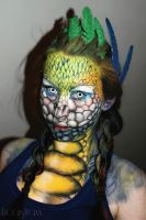 Blue and Yellow Coatl Make-Up by lucastraxx
