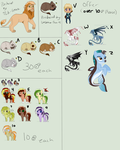 Unsold Adopts by SkySwordHilty