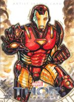 IRON MAN_Thor the dark world sketch card by JASONS21