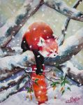 Snowy Red Panda by esther-rose-mouse