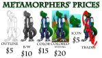 Commisions Prices by Metamorpher