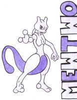 mewtwo by AnimeElf