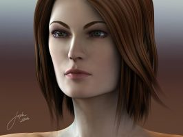 Female 3d Rendering by JophielS