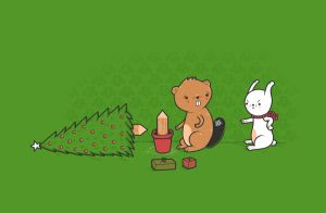 Beavers ruin Christmas by randyotter