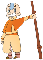 Aang by TopHatless