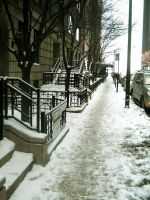Snow Street in Chicago by JennyVonGrimm