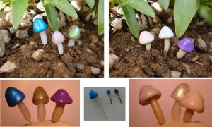 Mini Mushrooms for Terriariums by The-Suz