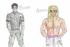 Elliot and Adam sketches by KunstlerOder