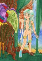 Nude girl in jungle by femto