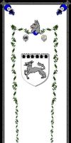 Heraldry banner, 'Greywolf' by Designers-Guild