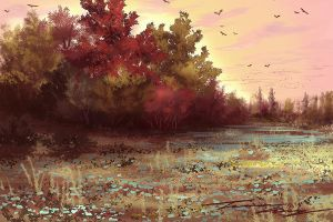 Speed paint. Bird sanctuary. by RavenseyeTravisLacey