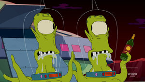 The Aliens From The Simpson on Futurama by dlee1293847