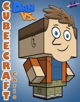 Cubeecraft of Chris from Dan vs 3D bt SKGalean by SKGaleana