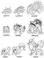 Contest Fakemon Starters by LukeTheRipper