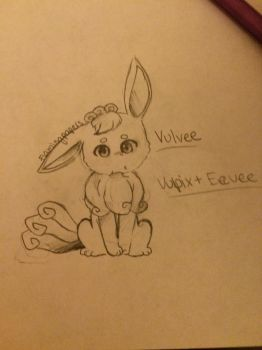Vulpix + Eevee Fusion! by RealFlamingPapers