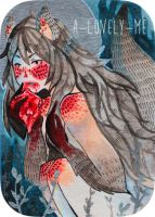 ACEO: wolf girl by a-lonely-me