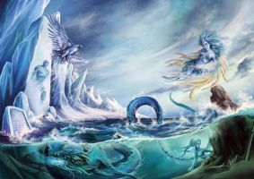 Elements: Ice Wind Water by amiroteia