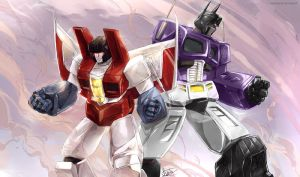 Prime and Starscream by NewtypeS3