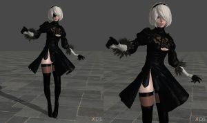 [Download Now] 2B Nier:Automata (original model) by ShinyLightBulb