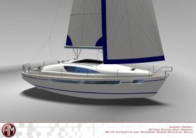AM 40 Prestige Sailing Yacht 8 by AndrewMooneyDesign