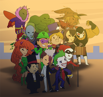 Mini batman villains by pink-ninja