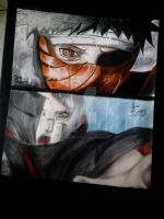 Tobi/ Obito Vs Konan by Robert-Sennin