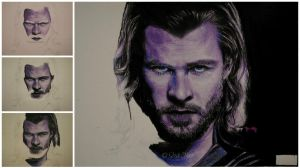 Chris Hemsworth WIP by ladysofhousen