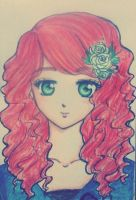 red haired beauty by tsubakiakira09
