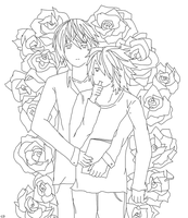 LxLight Lineart - Roses by CrazzyDreams