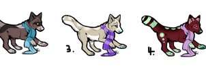 Scarf Wolves (CLOSED) by Neon-Spots-Adopts