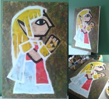 Zelda's Painting   A Link Between Worlds by PixelCollie