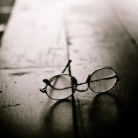 light in glasses by S-t-r-a-n-g-e