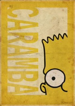 Bart Simpson - Vintage style poster- 3ftdeep by 3ftDeep