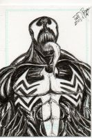 Venom sketch card by Tiduk